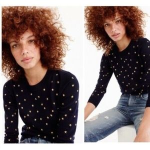 J Crew Tippi Embroidered Star Sweater S NWT